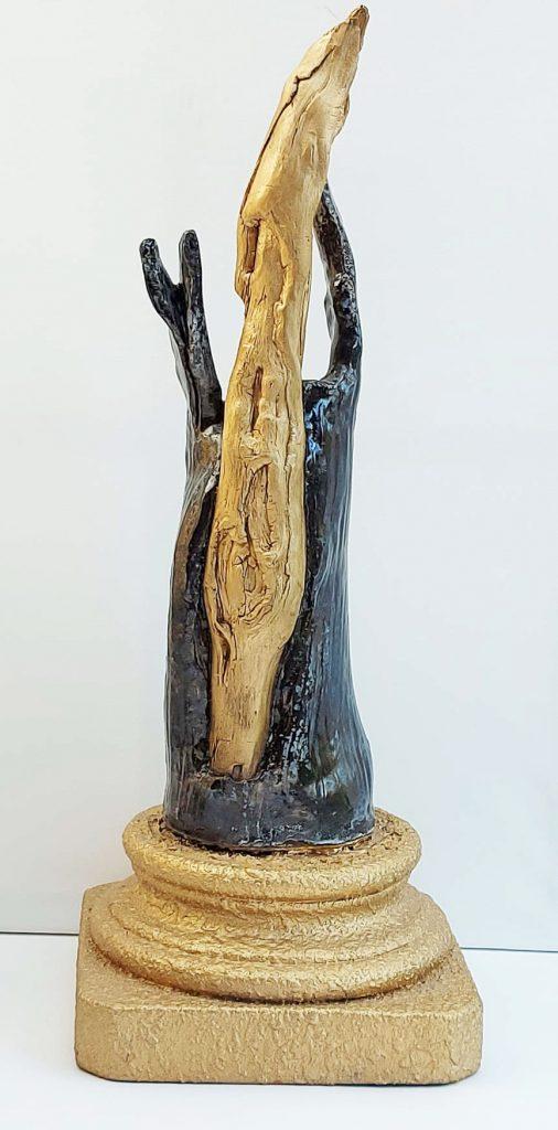 Eilmann, Sophie Dorotheas Krone, Holz glasierter Ton