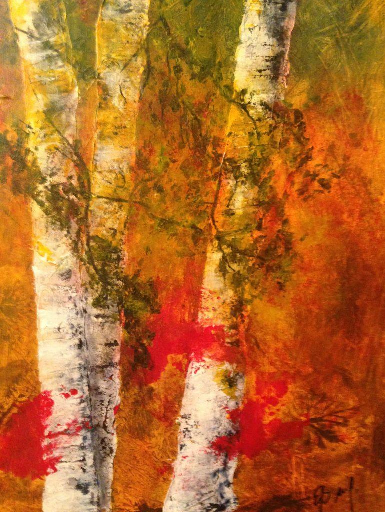 Essing, Autumn light, Acryl auf Leinwand