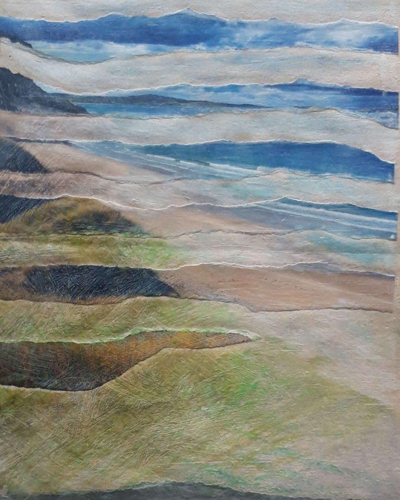 K. Meisgeier Wo Graeser wehen leicht im Wind, Papiercollage