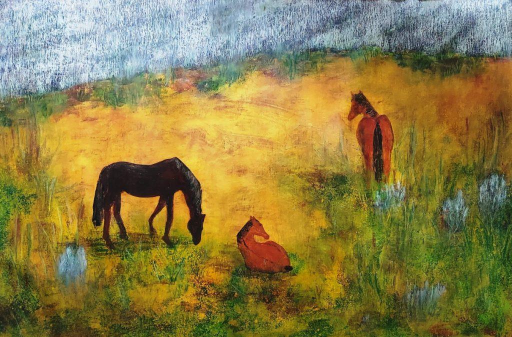 Pferde im Lavendel, Sabine Herz